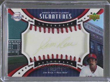 2007 Upper Deck Sweet Spot Classic - Legendary Autograph - Red Stitch Gold Ink #SPS-RI - Jim Rice /175
