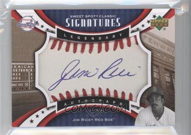2007 Upper Deck Sweet Spot Classic - Legendary Autograph - Sepia Blue Ink #SPV-JR - Jim Rice /75