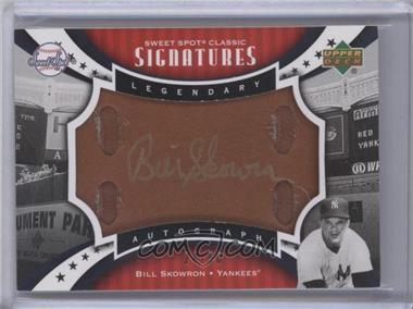 2007 Upper Deck Sweet Spot Classic - Sweet Spot Signatures - Leather Gold Ink #SPS-SK - Moose Skowron /50