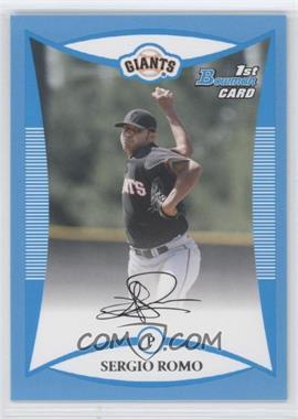 2008 Bowman - Prospects - Blue #BP4 - Sergio Romo /500