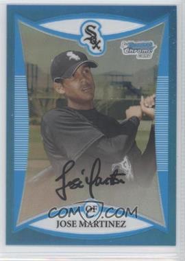 2008 Bowman Chrome - Prospects - Blue Refractor #BCP179 - Jose Martinez /150