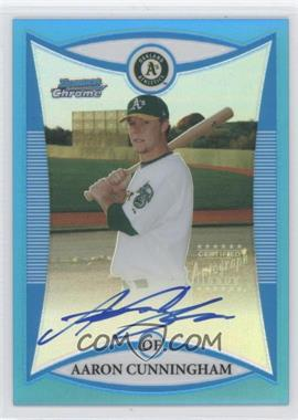 2008 Bowman Chrome - Prospects - Blue Refractor #BCP275 - Aaron Cunningham /150