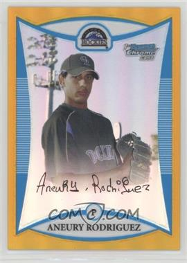 2008 Bowman Chrome - Prospects - Gold Refractor #BCP98 - Aneury Rodriguez /50
