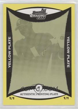 2008 Bowman Chrome - Prospects - Printing Plate Yellow #BCP199 - Dominic Brown /1