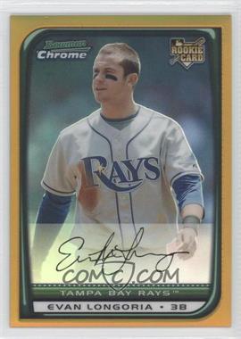 2008 Bowman Draft Picks & Prospects - [Base] - Chrome Gold Refractor #BDP27 - Evan Longoria /50