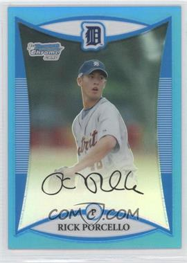 2008 Bowman Draft Picks & Prospects - Prospects - Chrome Blue Refractor #BDPP1 - Rick Porcello /99