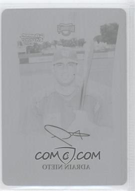 2008 Bowman Draft Picks & Prospects - Prospects - Chrome Printing Plate Black #BDPP9 - Adrian Nieto /1