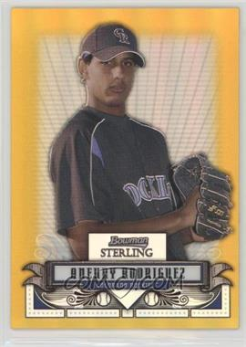 2008 Bowman Sterling - Prospects - Gold Refractor #BSP-AR - Aneury Rodriguez /50
