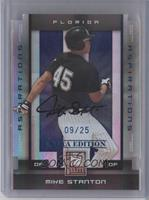 Giancarlo Stanton (Mike on Card) #/25