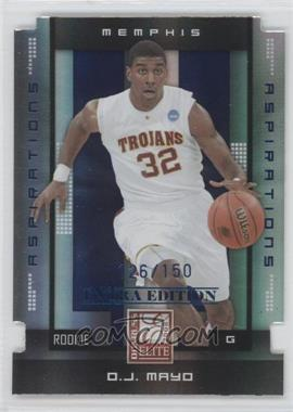 2008 Donruss Elite Extra Edition - [Base] - Aspirations Die-Cuts #200 - O.J. Mayo /150