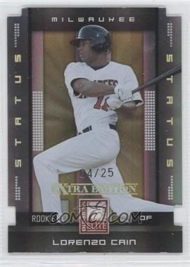2008 Donruss Elite Extra Edition - [Base] - Status Gold Die-Cuts #144 - Lorenzo Cain /25