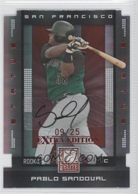 2008 Donruss Elite Extra Edition - [Base] - Status Red Die-Cuts Autographs [Autographed] #152 - Pablo Sandoval /25