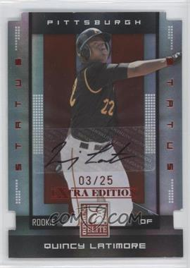 2008 Donruss Elite Extra Edition - [Base] - Status Red Die-Cuts Autographs [Autographed] #153 - Quincy Latimore /25