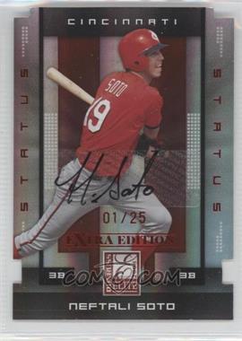 2008 Donruss Elite Extra Edition - [Base] - Status Red Die-Cuts Autographs [Autographed] #77 - Neftali Soto /25
