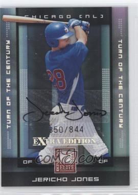 2008 Donruss Elite Extra Edition - [Base] - Turn of the Century Autographs [Autographed] #48 - Jericho Jones /844