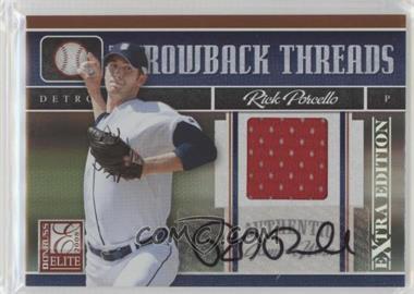 2008 Donruss Elite Extra Edition - Throwback Threads - Autographs [Autographed] #TTS-1 - Rick Porcello /100
