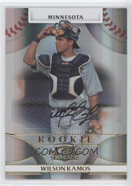 2008 Donruss Threads - [Base] #130 - Rookie Autograph - Wilson Ramos /999