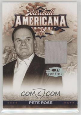 2008 Donruss Threads - Baseball Americana - Materials [Memorabilia] #BA-6 - Pete Rose /250