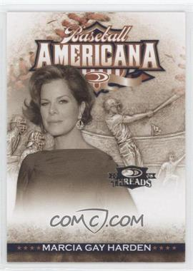 2008 Donruss Threads - Baseball Americana #BA-29 - Marcia Gay Harden /500