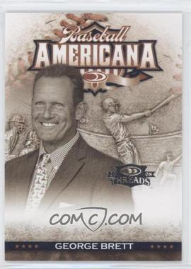 2008 Donruss Threads - Baseball Americana #BA-9 - George Brett /500
