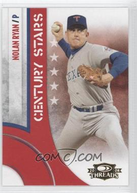2008 Donruss Threads - Century Stars #CS-12 - Nolan Ryan