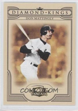 2008 Donruss Threads - Diamond Kings #DK-40 - Don Mattingly