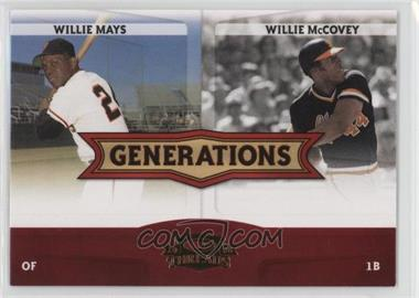 2008 Donruss Threads - Generations #G-4 - Willie Mays, Willie McCovey