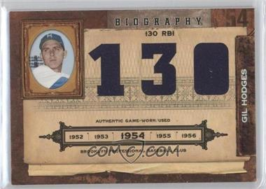 2008 Playoff Prime Cuts - Biography - Materials [Memorabilia] #12 - Gil Hodges /25