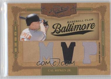 2008 Playoff Prime Cuts - Icons - MVP Materials [Memorabilia] #23 - Cal Ripken Jr. /9