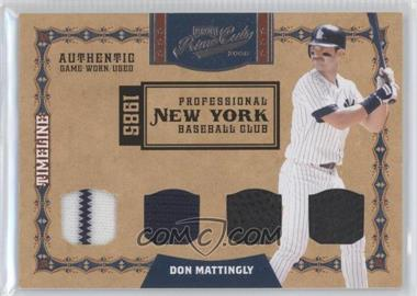 2008 Playoff Prime Cuts - Timeline - Quads Materials [Memorabilia] #24 - Don Mattingly /15