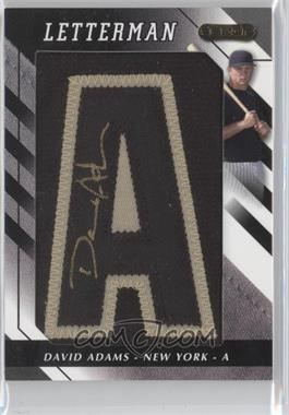 2008 Razor Letterman - [Base] - 1 Black/Gold #DA-A2 - David Adams /1