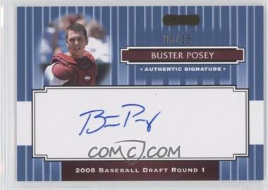 2008 Razor Signature Series - [Base] - Blue #105 - Buster Posey /25