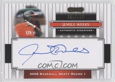 2008 Razor Signature Series - [Base] #112 - Jemile Weeks /699