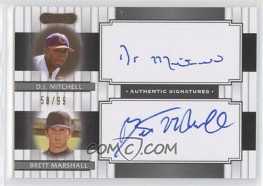 2008 Razor Signature Series - Dual Signatures #DS-13 - D.J. Mitchell, Brett Marshall /99