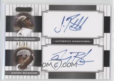 2008 Razor Signature Series - Dual Signatures #DS-6 - Tim Beckham, Jeremy Beckham /99