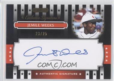 2008 Razor Signature Series - Exclusive Signatures - Black #ES-10 - Jemile Weeks /25