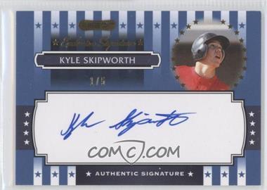 2008 Razor Signature Series - Exclusive Signatures - Blue #ES-5 - Kyle Skipworth
