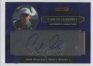 2008 Razor Signature Series Metal - Autographs - Blue #AU-CG - Carlos Gutierrez