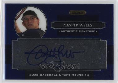 2008 Razor Signature Series Metal - Autographs - Blue #AU-CW - Casper Wells