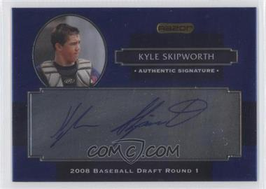 2008 Razor Signature Series Metal - Autographs - Blue #AU-KS - Kyle Skipworth