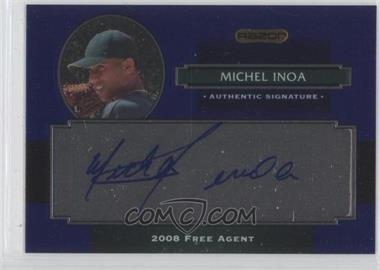 2008 Razor Signature Series Metal - Autographs - Blue #AU-MI - Michael Inoa