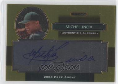 2008 Razor Signature Series Metal - Autographs - Gold #AU-MI - Michael Inoa