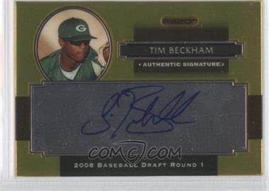 2008 Razor Signature Series Metal - Autographs - Gold #AU-TB - Tim Beckham