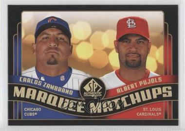 2008 SP Authentic - Marquee Matchups #MM-10 - Carlos Zambrano, Albert Pujols