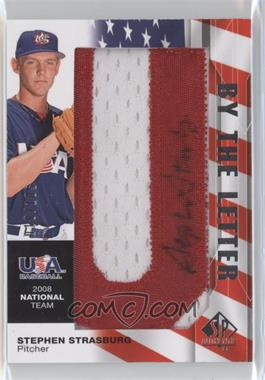 2008 SP Authentic - USA Baseball National Team By the Letter Autographs #NTA-SS - Stephen Strasburg /105