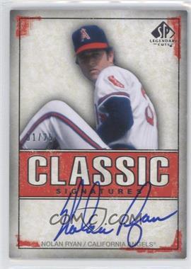 2008 SP Legendary Cuts - Classic Signatures #CS-NR - Nolan Ryan /25
