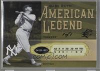 Babe Ruth [Noted] #/1