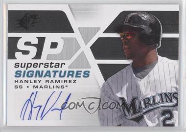 2008 SPx - Superstar Signatures #SSS-HR - Hanley Ramirez