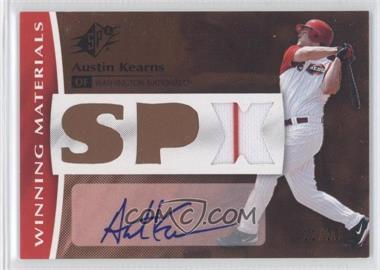 2008 SPx - Winning Materials - SPx Autograph [Autographed] #WM-AK - Austin Kearns /20