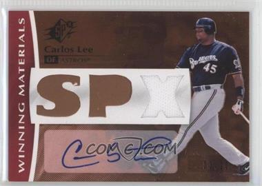 2008 SPx - Winning Materials - SPx Autograph [Autographed] #WM-CL - Carlos Lee /20